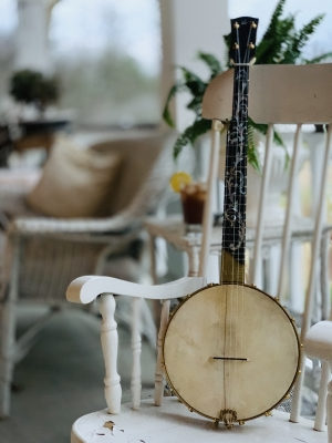 "The ""Music City Belle"" features a comfortable 10-inch rim and short-scale neck."