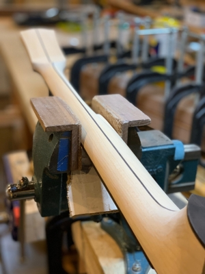 Hand-carved Eastern hard Maple (Rock Maple) neck