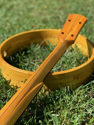 Osage Orange (Bois d'arc) neck & rim